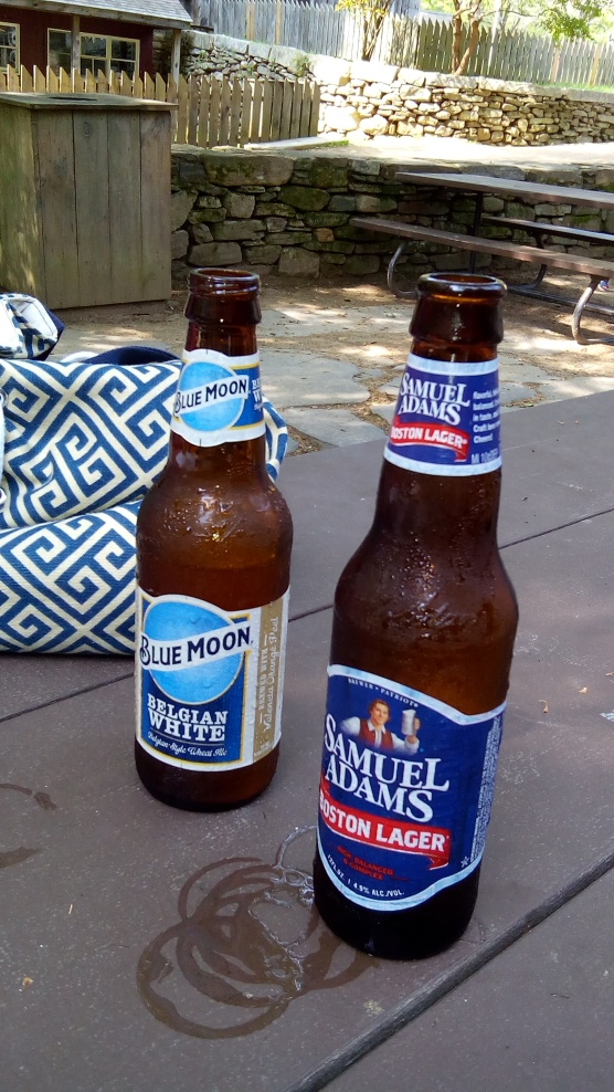 Warm up beers with lunch first.